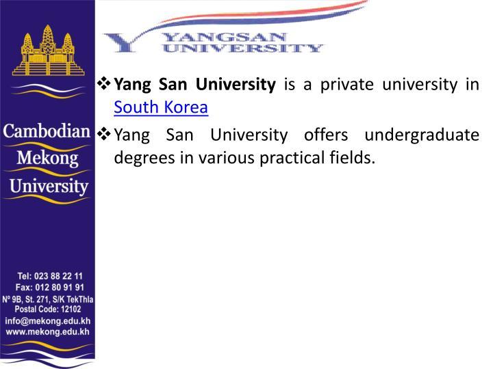 Yang San University
