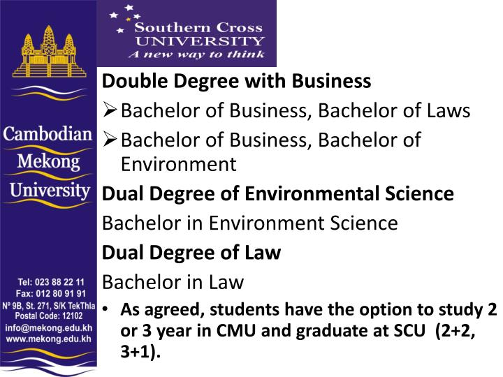Double Degree with Business