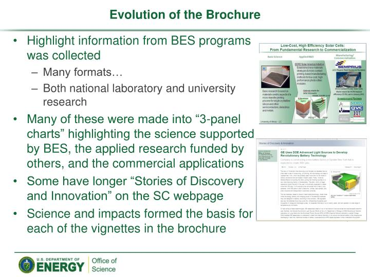 Evolution of the Brochure