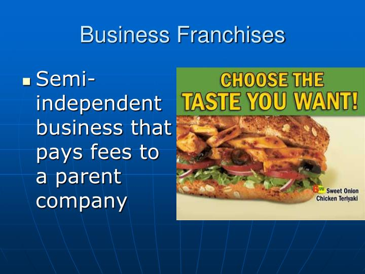Business Franchises
