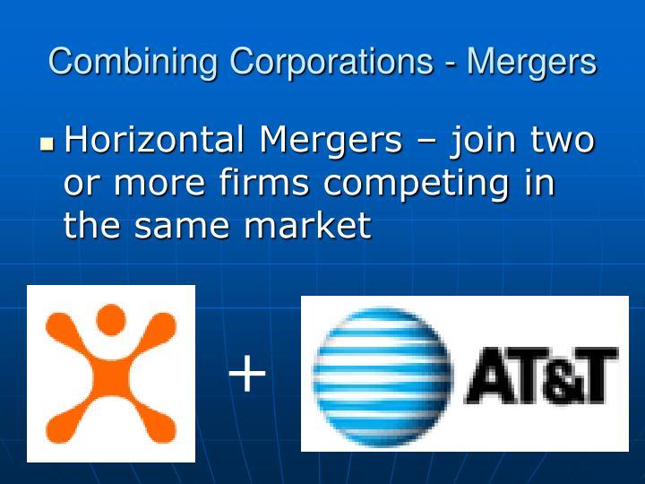 Combining Corporations - Mergers