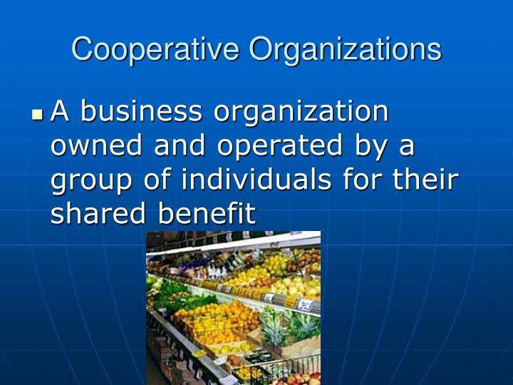 Cooperative Organizations