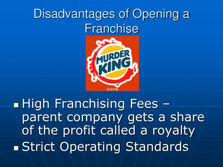 Disadvantages of Opening a Franchise
