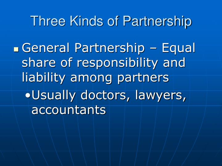 Three Kinds of Partnership