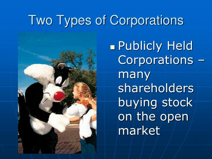 Two Types of Corporations