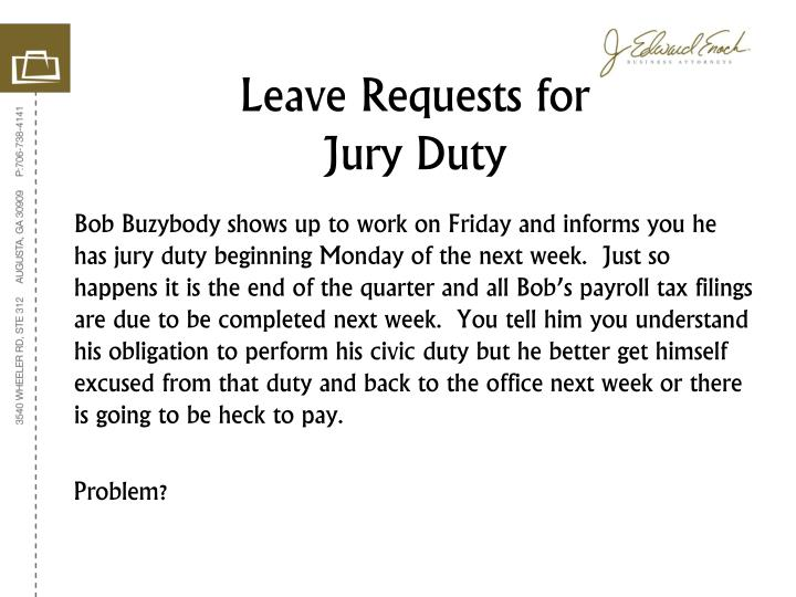 Leave Requests for