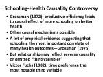 schooling health causality controversy