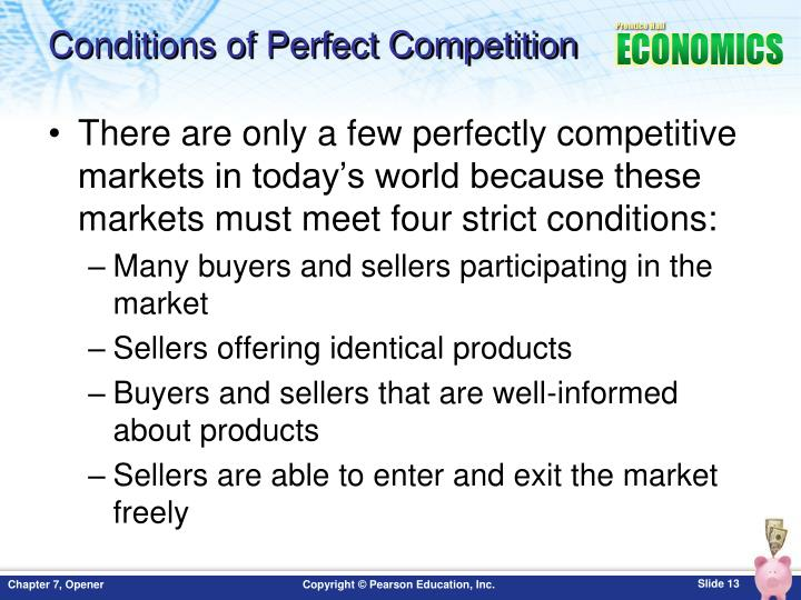 Conditions of Perfect Competition