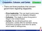 cooperation collusion and cartels