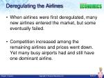deregulating the airlines