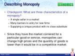 describing monopoly
