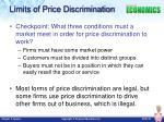 limits of price discrimination
