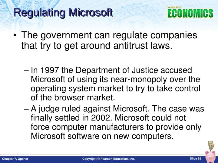 Regulating Microsoft