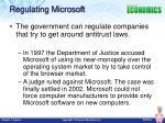 regulating microsoft