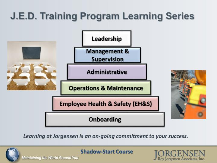 J.E.D. Training Program Learning Series