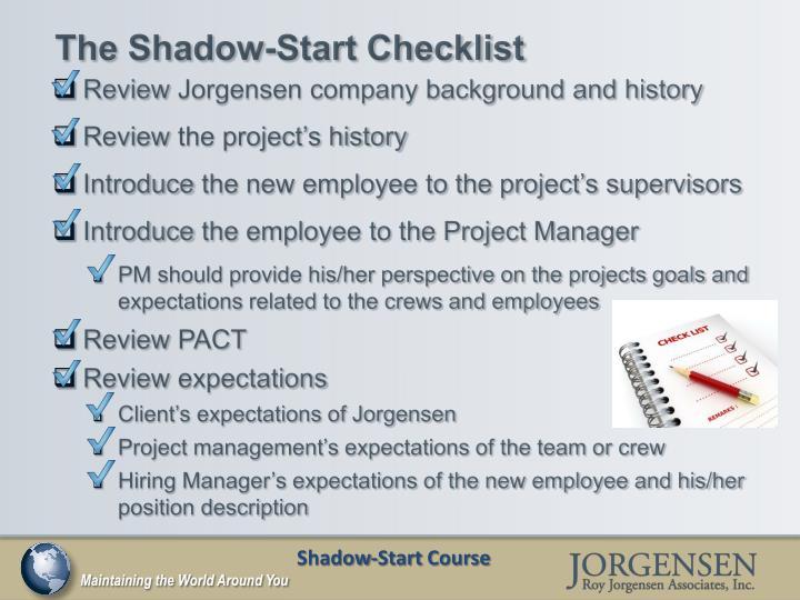 The Shadow-Start Checklist