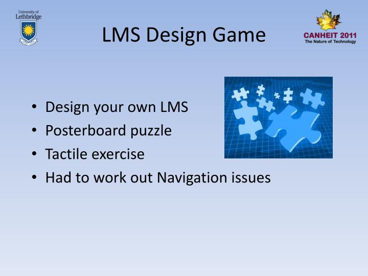 LMS Design Game