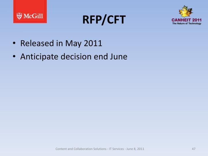 RFP/CFT
