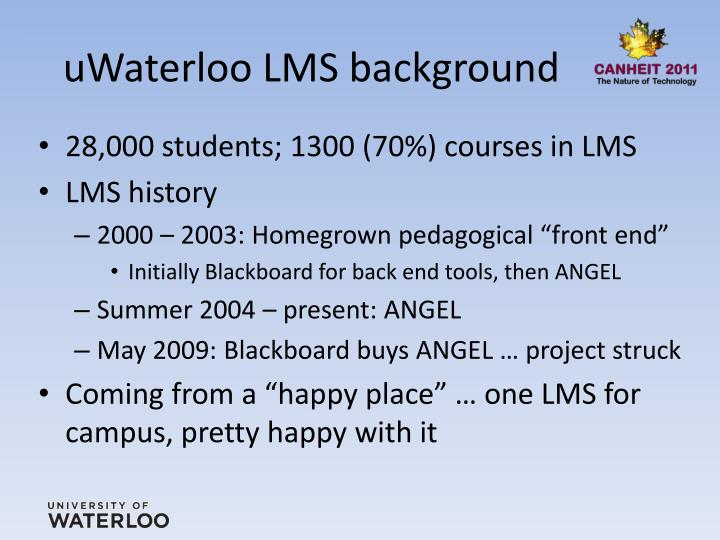 Uwaterloo lms background