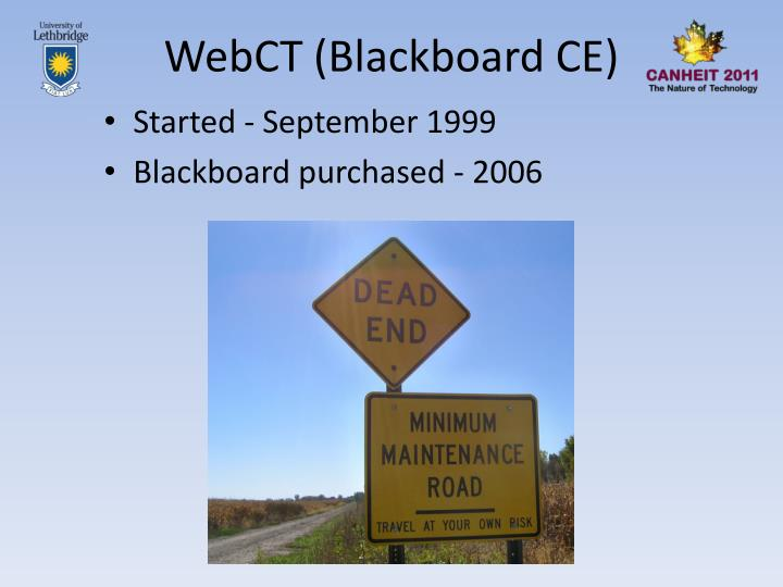 WebCT (Blackboard CE)