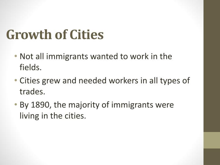 Growth of Cities