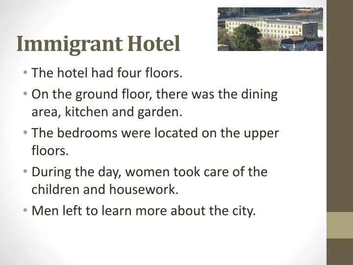 Immigrant Hotel