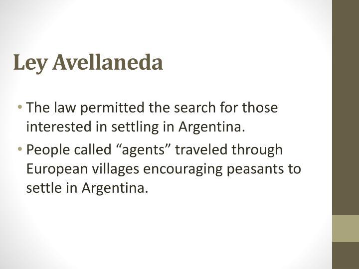 Ley Avellaneda