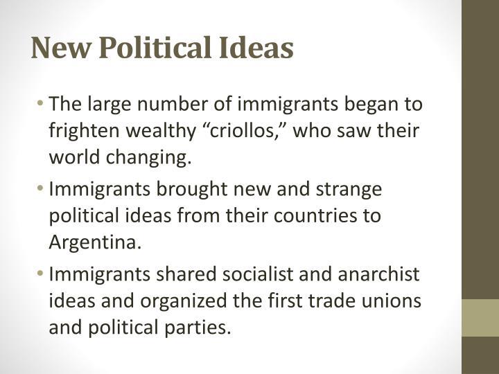 New Political Ideas
