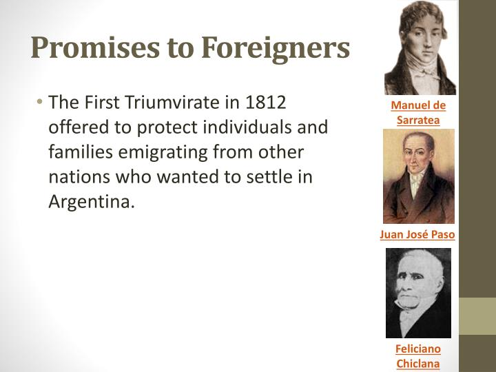 Promises to Foreigners