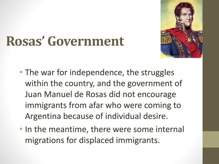 Rosas' Government