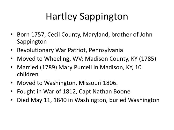 Hartley Sappington