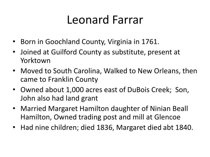 Leonard Farrar