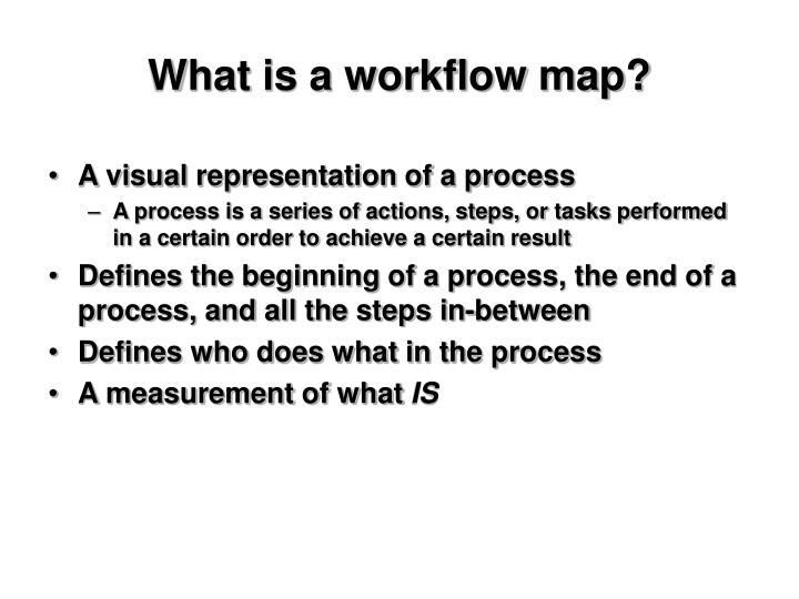 What is a workflow map?