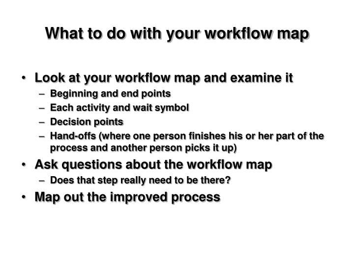 What to do with your workflow map