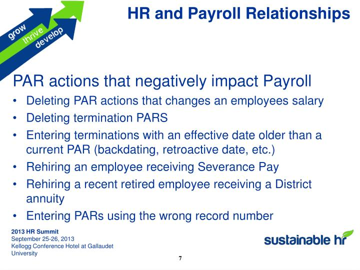 HR and Payroll Relationships