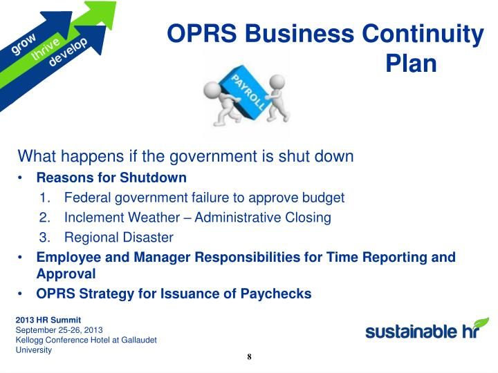 OPRS Business Continuity Plan