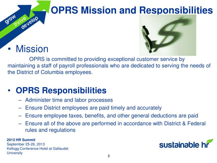 OPRS Mission and Responsibilities