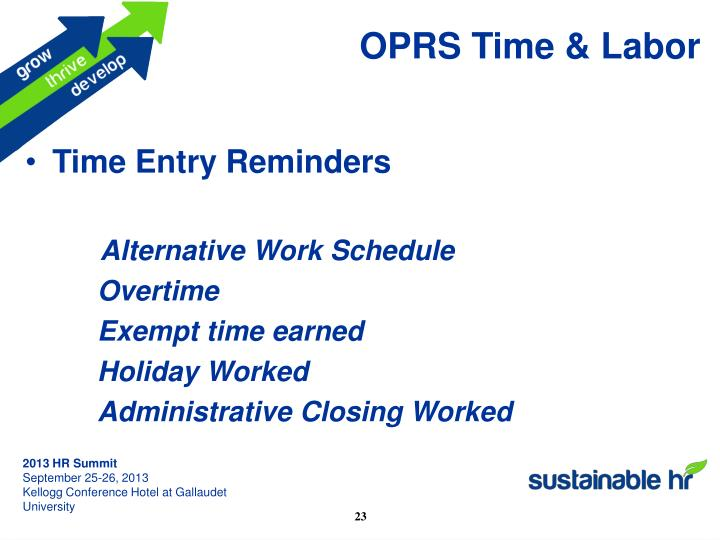 OPRS Time & Labor