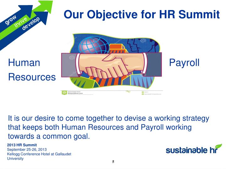 Our Objective for HR Summit