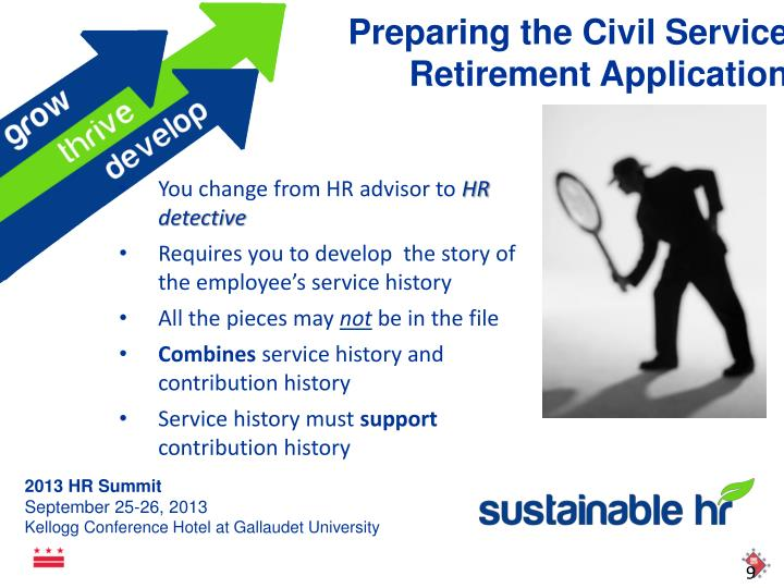 Preparing the Civil Service Retirement Application