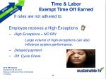 time labor exempt time off earned1