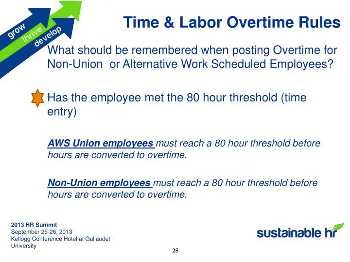 Time & Labor
