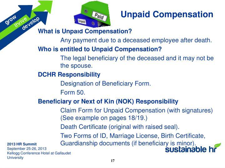 Unpaid Compensation