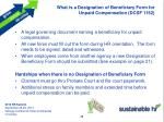 what is a designation of beneficiary form for unpaid compensation dcsf 1152