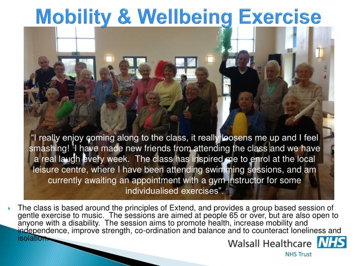 Mobility & Wellbeing Exercise