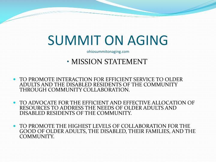 SUMMIT ON AGING