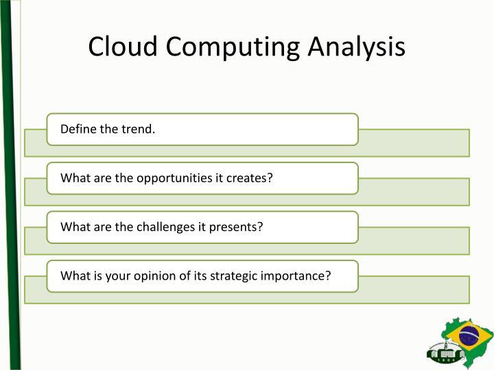 Cloud Computing Analysis