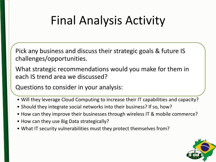 Final Analysis Activity