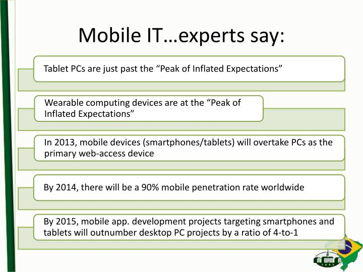 Mobile IT…experts say: