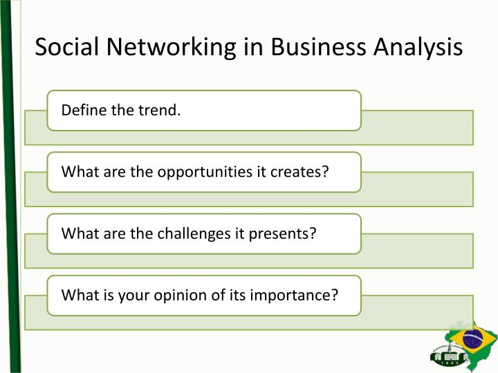 Social Networking in Business Analysis